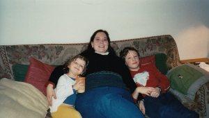 Poland, 2004 -- Me with Hannah and Alex