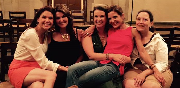 Amanda, Mary, Laura, Glennon, and me at Old South Church